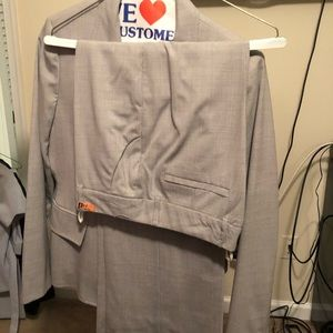 Grey suite pants set
